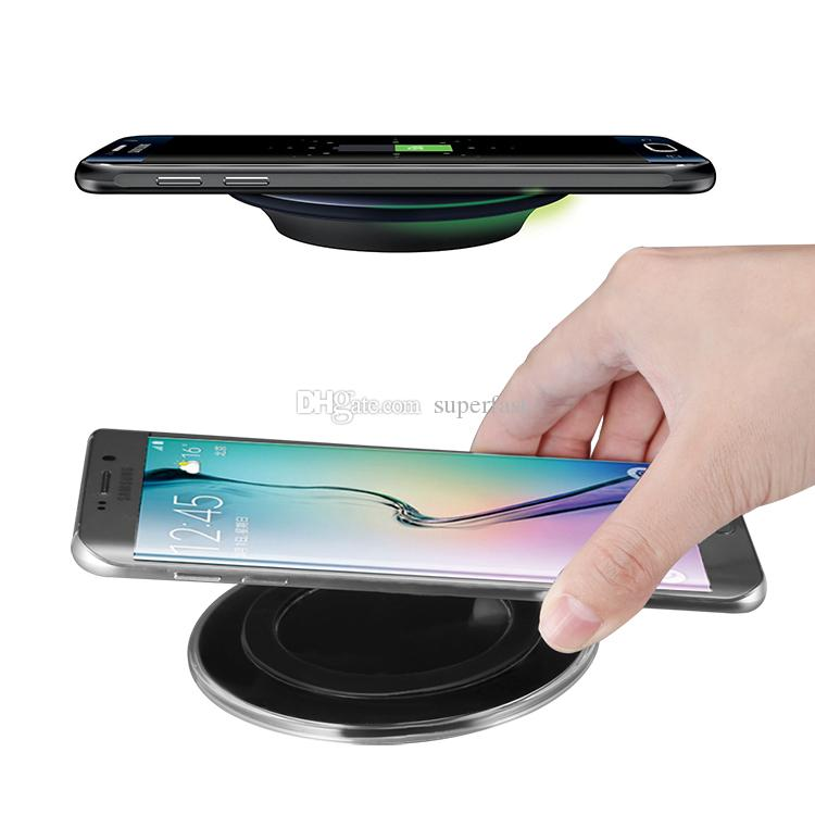 For iPhone X Qi Wireless Charger Pad Wireless Charging Cord For Samsung Note 8 iPhone 8 Plus Galaxy Note 5 with USB Cable in Retail Box