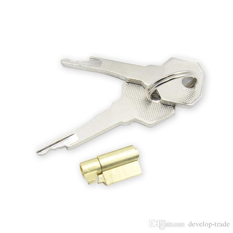 Serrure et clés en acier inoxydable Stealth de remplacement pour les NOUVEAUX dispositifs de chasteté pour hommes