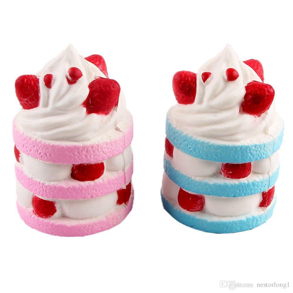 9CM Cute Squishy Jumbo Strawberry Ice Cream Slow Rising Scented Pendant Bread Cake Kid Fun Toy Gift Phone Straps