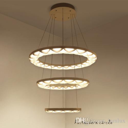 Ceiling Lights & Fans Ceiling Lights Postmodern Chandelier Creative Personality Modern Minimalist Dining Table Restaurant Chandelier Three Round Home Dining Room Led Clear And Distinctive