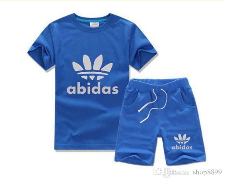 Compre 2018 Marca De Verano Ropa Para Niños Set Niños Deporte Traje Niños  De Manga Corta Camiseta + Pantalón Pantalón De Las Niñas Ropa Jogging  Chándal A ... f2da43910dd99