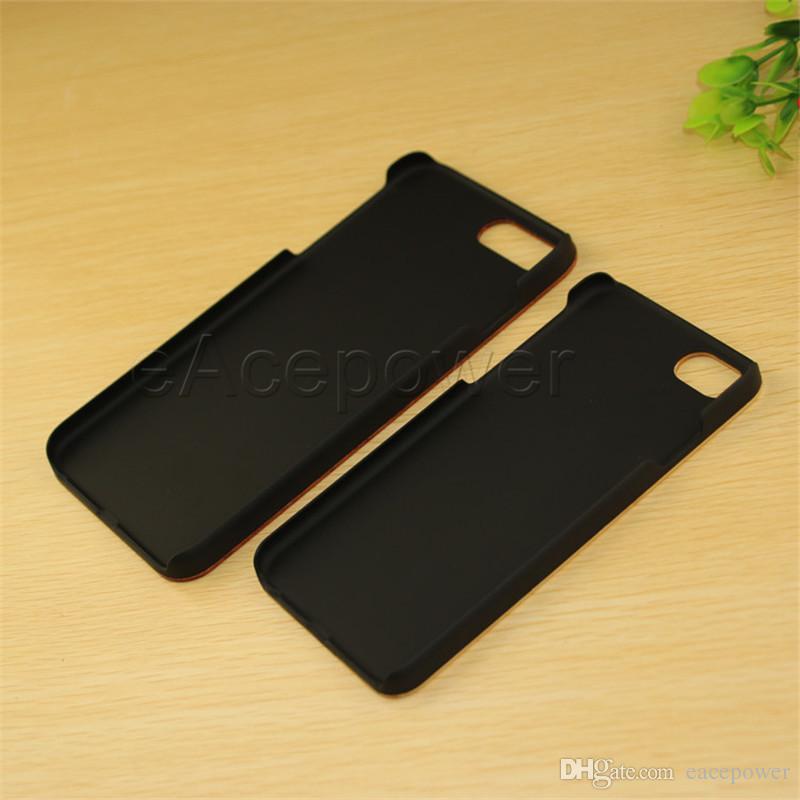 Étui en bois véritable pour iPhone 7 6 6S Plus couverture Nature sculpté en bois bambou en bois + PC Case pour iPhone 5 5S 5SE téléphone Shell