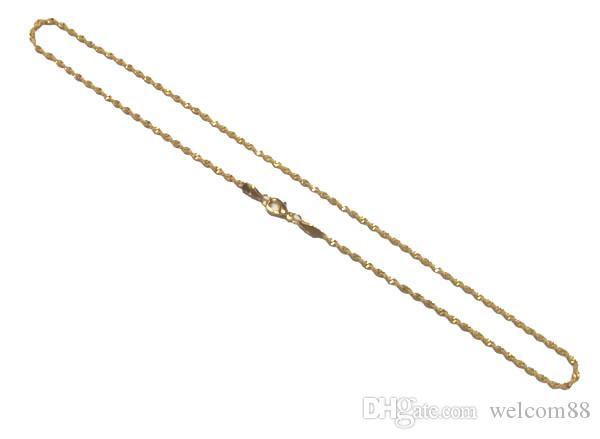 10 pz / lotto 16 pollici collana placcata oro catene fai da te artigianale moda regalo GO15 SHIPP gratuito