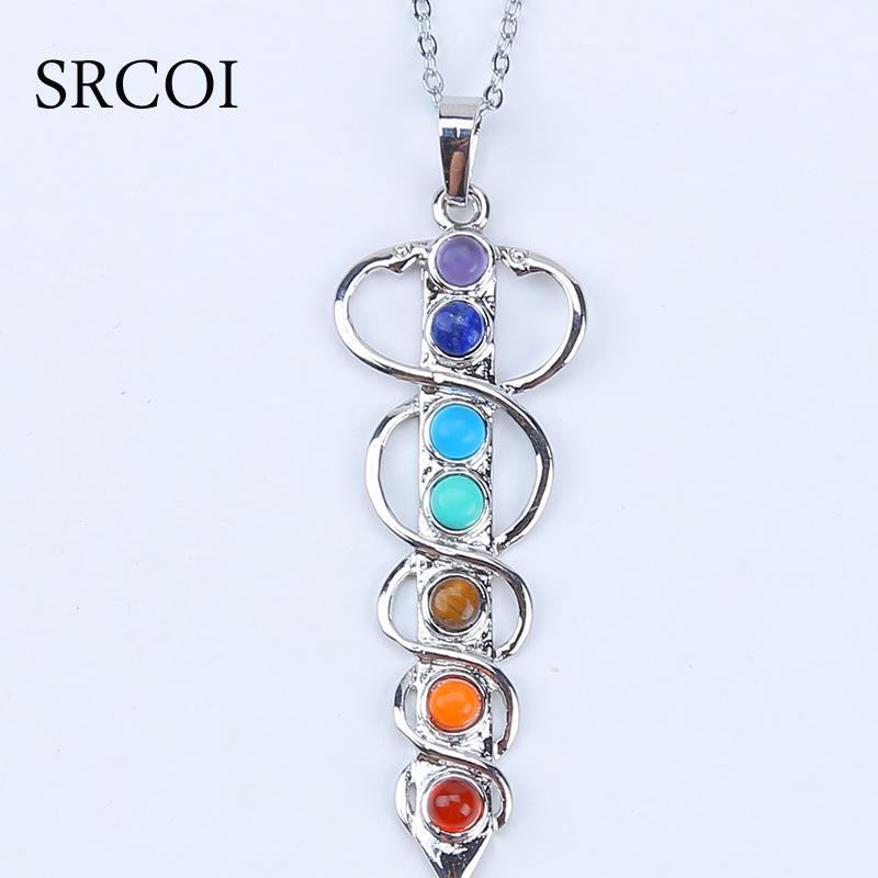 2018 wholesale 7 chakra stones healing crystals chakra pendant 2018 wholesale 7 chakra stones healing crystals chakra pendant natural reiki symbols crystal stone jewelry yogo energy pendant necklace amulet from elecc aloadofball Image collections