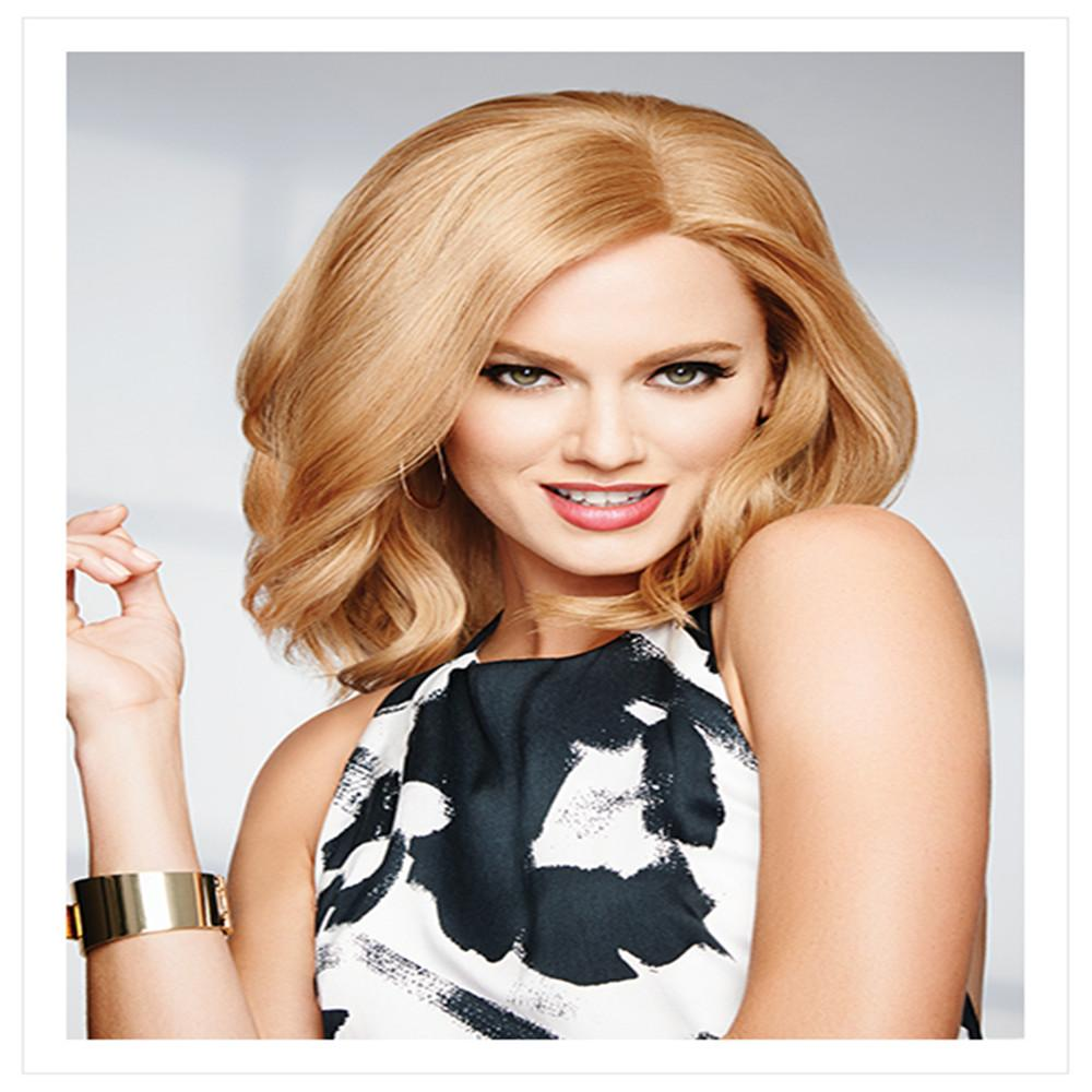 Fashion wig Big wavy blondes Glueless Brazilian Human Hair 100% Full Lace Wig yaki straight full lace wig virgin with baby color L27# kabell