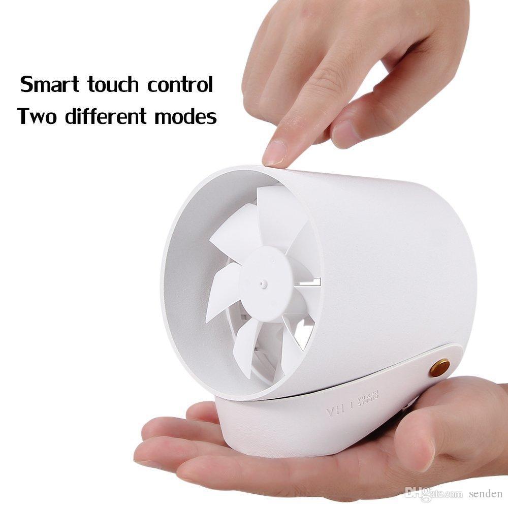 Xiaomi Touch-Lüfter Ultra Quiet USB betriebene beweglichen Schreibtisch-Ventilator-Touch-Sensor-Schalter mit Doppelblatt Silent-USB Wind mit hängenden Gurt