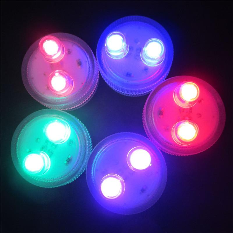 Super Bright Dual LED Submersible Waterproof Tea Lights Decoration Candle Wedding Party Christmas Holiday High Quality decoration light