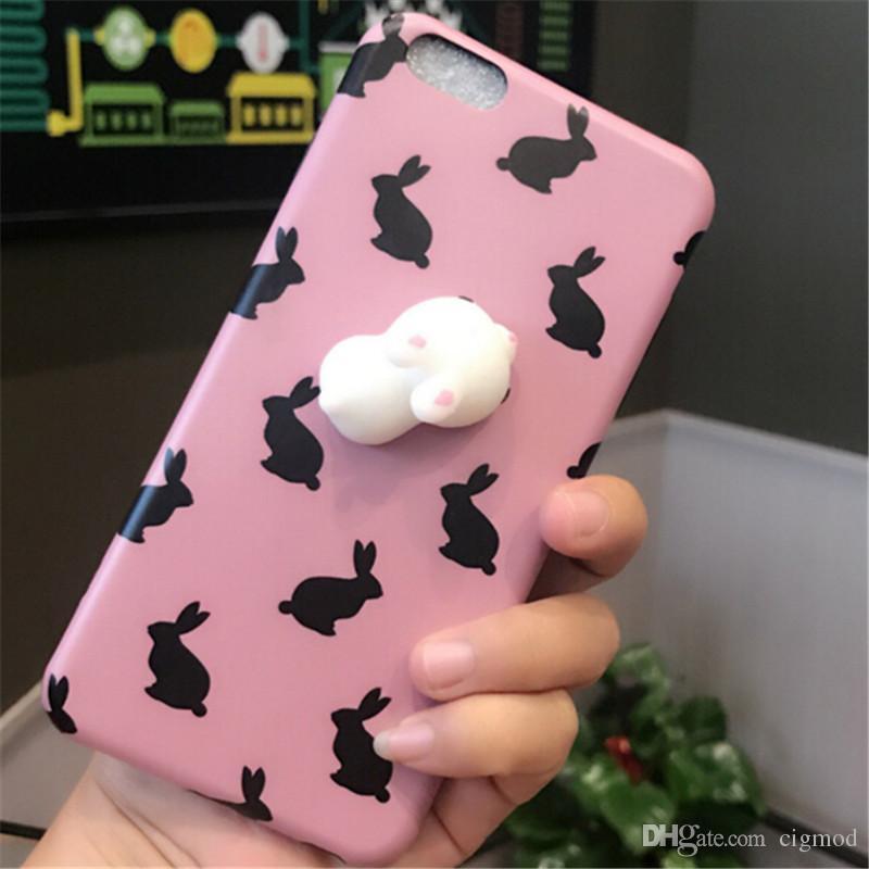 Custodie morbide in silicone telefoni cellulari Panda Pappy Squishy Cat Coque Decompression iPhone 7 6 6S 7 Plus