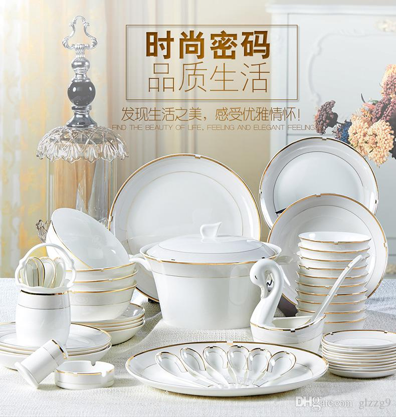 56 Red Peony Phnom Penh Tableware Set Continental Creative Bone China Bowl Plate Tray Gift Set Suit Cheap Dinnerware Sets Online Cheap Red Dinnerware Sets ...  sc 1 st  DHgate.com & 56 Red Peony Phnom Penh Tableware Set Continental Creative Bone ...