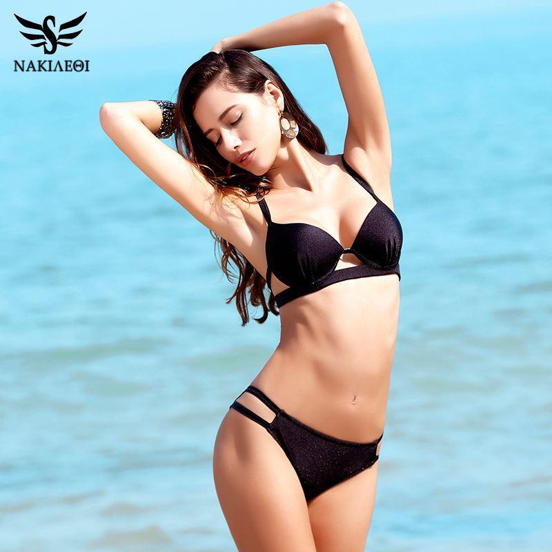 f17e8159ef 2019 BEIJIA 2017 New Bikinis Women Swimsuit Swimwear Female Sexy Brazilian  Bikini Set Cut Out Solid Beach Bathing Suit Swim Wear From  Beijiaclothingstor
