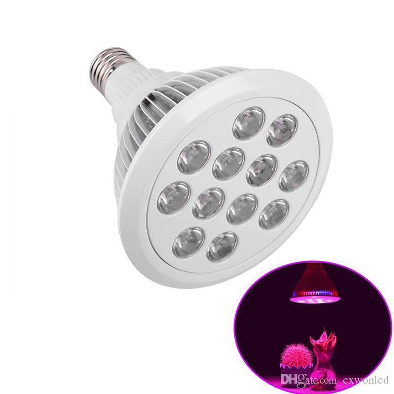 12 Вт 24 Вт привело светать E27 PAR38 гидропоники завод Сид растет лампа для теплицы AC85-265 в