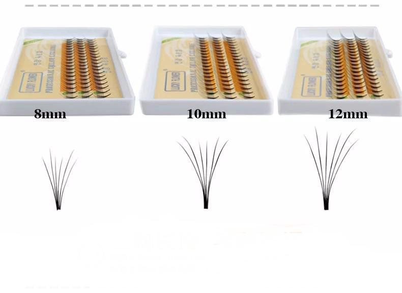 En gros Faux Extension De Cils De Luxe Lashes 6D Flash Volume Cils Fans Naturel Doux 0.15mm Longueur 8mm 10mm 12mm