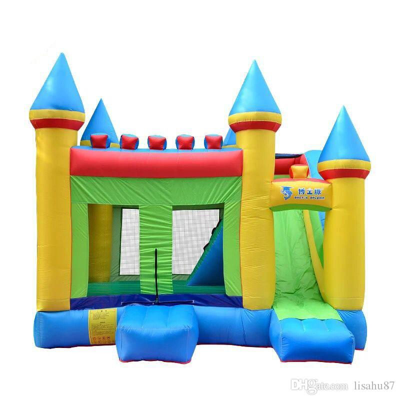inflatable bouncer castle children inflatable naughty fort castle home park amusement toy trampoline house type slide bed from lisahu87
