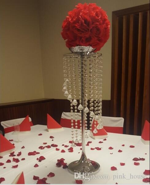 Elegant Wholesale Tall Crystal Flower Stand Centerpieces for ...