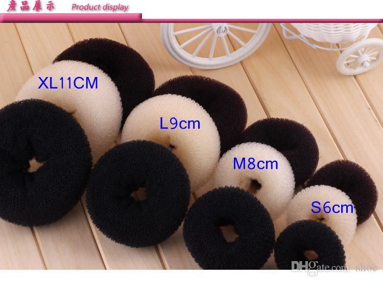 3 cores 3 tamanhos Donut Hair Ring Bun Antigo Shaper Hair Styler Maker