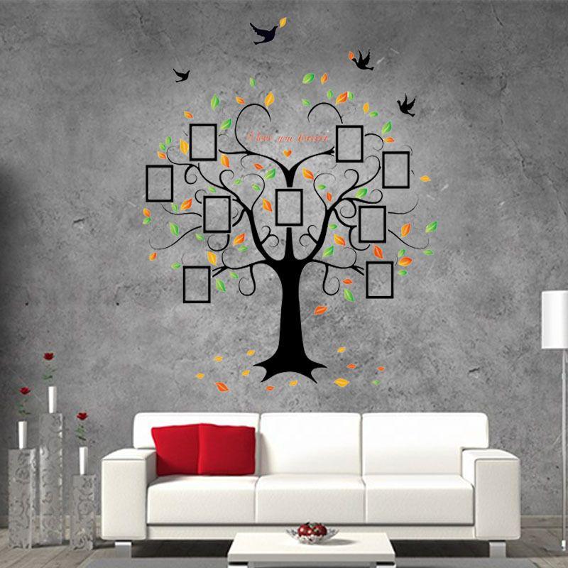 Extra grande! 250 * 180 cm Photo frame árvore retrato da família DIY removível Art adesivos de parede de vinil decoração Mural decalque sala de estar