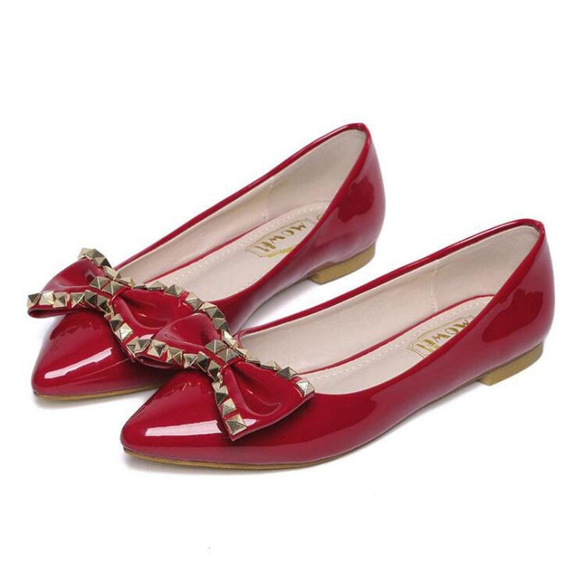 Women's Pink Slip On Flat Shoes The Bow Shoes Flat Shoes