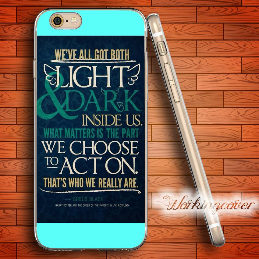 Capa Harry Potter Quotes Soft Clear Tpu Case For Iphone 7 6 6s Plus