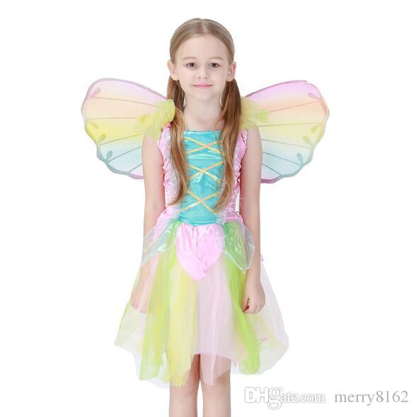 Lovely Rainbow Angel Girl Child Dress All Hallowsu0027 Day Childrenu0027S Princess Dress Stage Performance Clothing Cosplay Angel Costumes Nurse Halloween Costume ...  sc 1 st  DHgate.com & Lovely Rainbow Angel Girl Child Dress All Hallowsu0027 Day Childrenu0027S ...