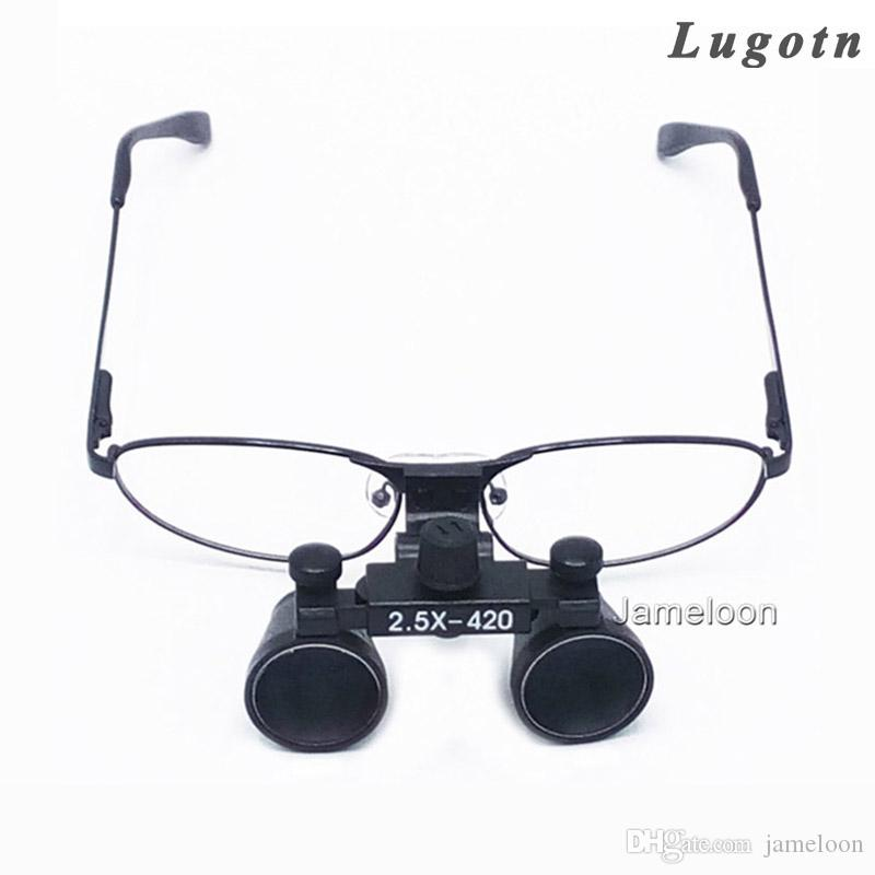 d6e73bad7a 2.5X Surgical Magnifying Lens Medical Dental Loupe Metal Frame Optical  Changeable Nearsighted Glass Dentist Surgical Magnifier Magnifying Glass  Hands Free ...