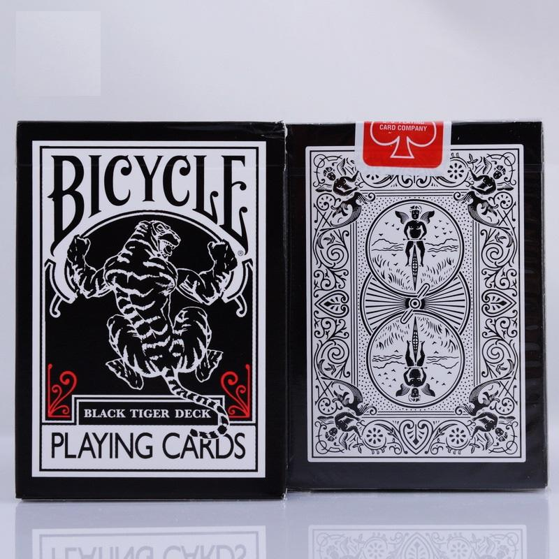1pcs Bicycle Black Tiger Ellusionist Deck Magic Card Playing Cards Poker  Close Up Magic Tricks for Professional Magician Collectible Card