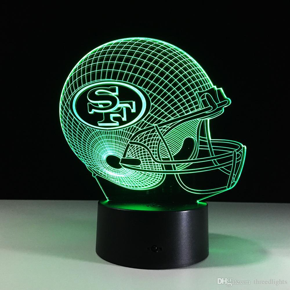 Toque LED aceitunas de mesa lámpara de la bola del casquillo SF Casco habitación de los niños de es de luz Night 3D Día de San Valentín regalo de cumpleaños