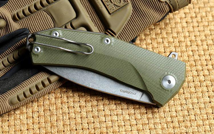 Lion Steel molletta KUR D2 blade G10 handle ball Bearing Flipper tactical folding knife camping outdoor gear survival pocket knives EDC tool