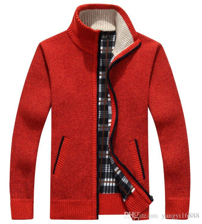 Winter new men 's casual jacket thicken plus cashmere sweater collar collar loose sweater sweater DH003