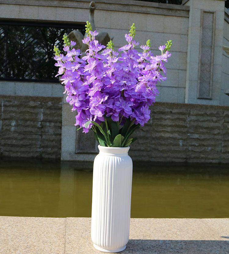 92cm Hyacinth Violet Flower Fake Silk Artificial Flowers Mariage