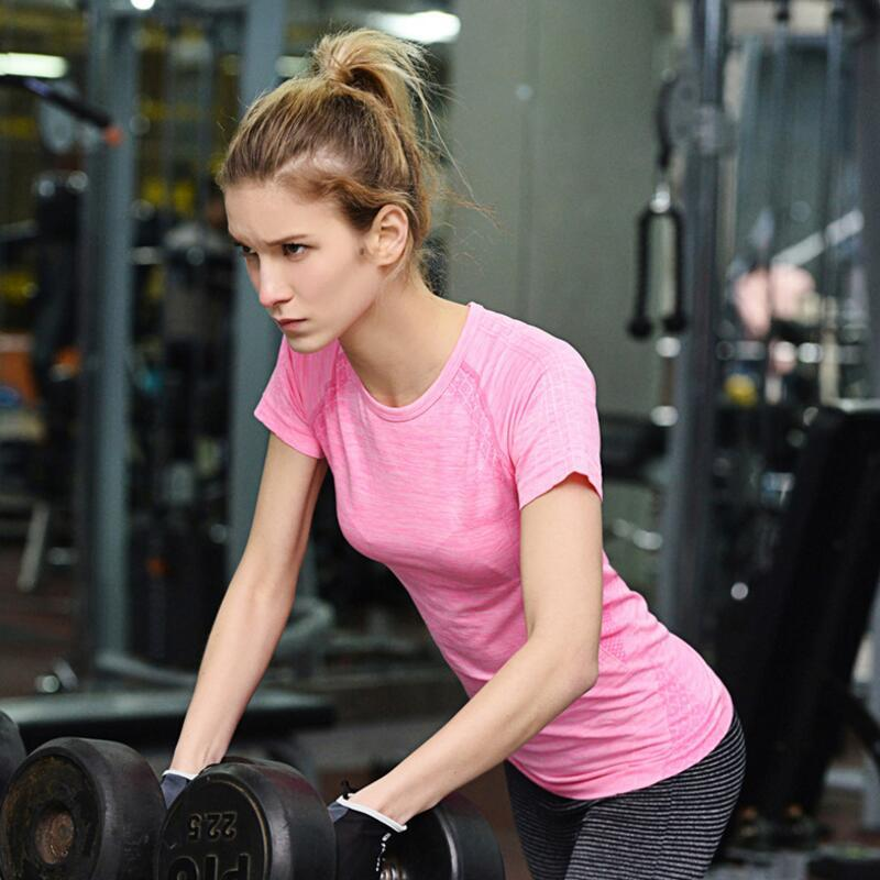 4efee53cd27a Acquista Abbigliamento Sportivo Da Donna Abbigliamento Da Palestra Active  Camicia Da Allenamento Senza Cuciture Camicia Sportiva Da Donna Traspirante  ...