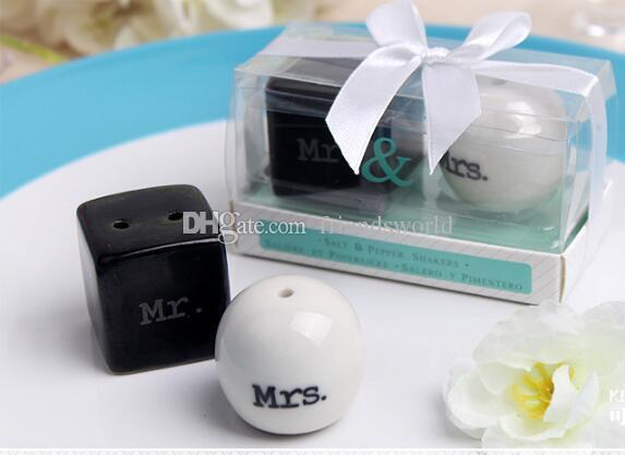 Compre Cubo Cilindro De Cerámica Sr. Sra. Sal Y Pimentero Shaker ...