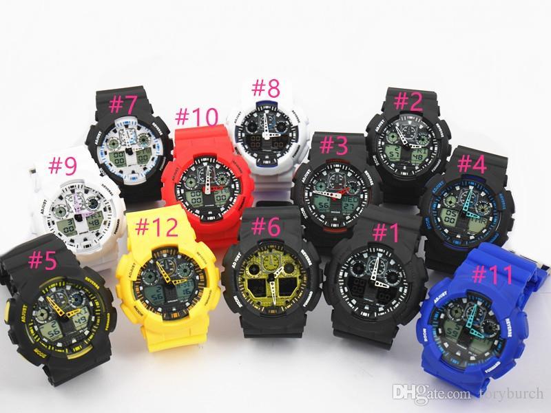 새로운 상위 relogio G100 남자 스포츠 시계, LED 크로노 그래프 손목 시계 군사 시계 디지털 시계, 좋은 선물, dropshipping