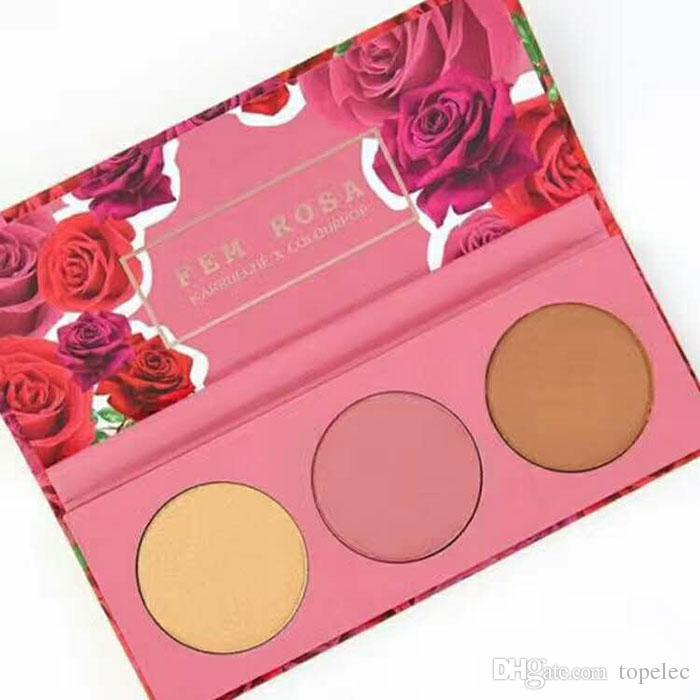 2017 Hot Fem Rosa Set Eye shadow +Highlighter +Matte lipstick DHL