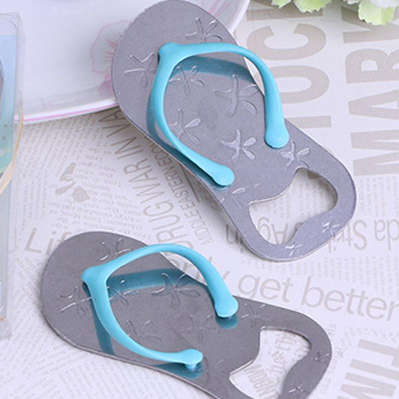 Wholesale Beach Theme Flip Flop Beer Bottle Opener with Starfish Wedding Favor Bridal Shower Guest Gift
