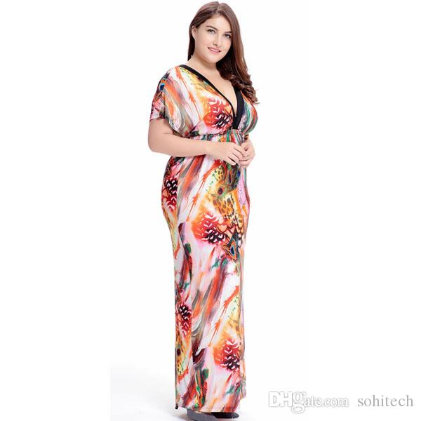 Boho Floral Maxi Dress For Womens Summer Plus Size Summer Plus ...
