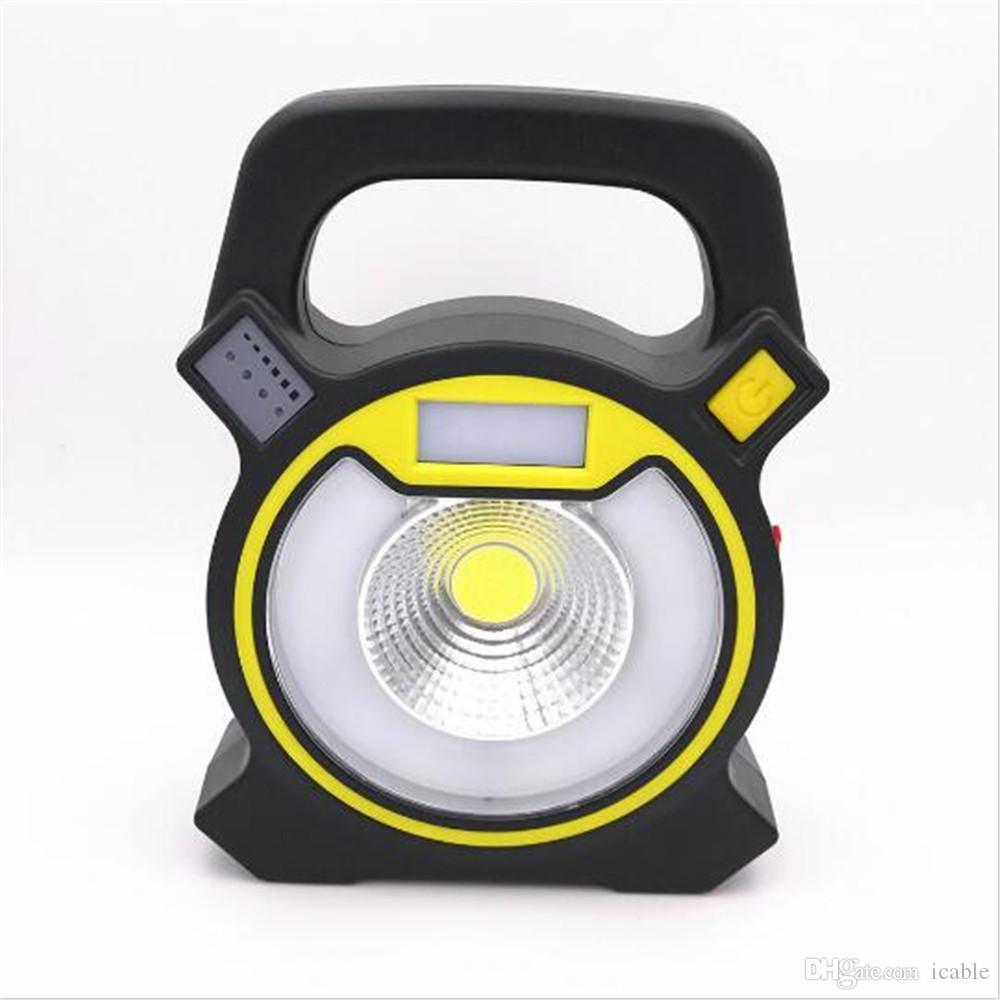 Newest multifunction usb rechargeable 10w cob work lights round newest multifunction usb rechargeable 10w cob work lights round led light strobe lamp portable outdoor emergency lantern light lamp lanterns for candles aloadofball Gallery