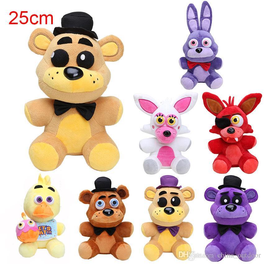 Grosshandel 25 Cm Neue Funf Nachte Freddys Spielzeug FNAF Freddy Fazbear Golden Mangle Foxy Puppe Pluschtiere Weihnachtsgeschenk Freies Verschiffen