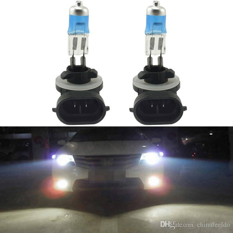 LEEWA 2x White Auto 881 27W Car Fog Lights Halogen Bulb Headlights Lamp Car Light Source Parking #2243