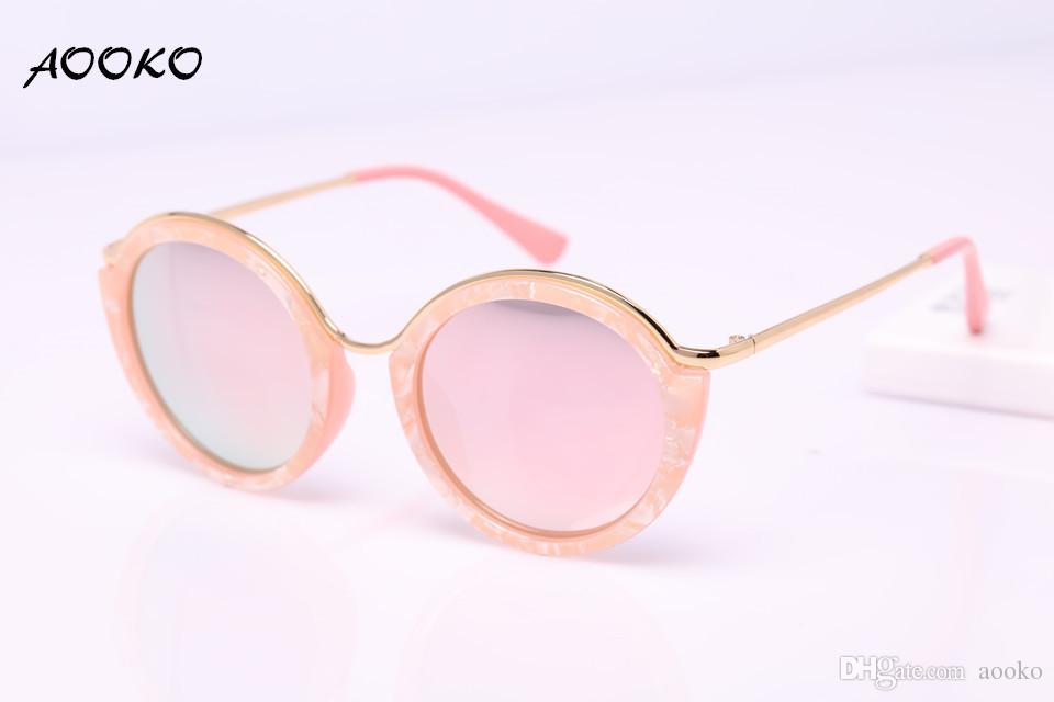 76145bebe AOOKO AK7909 High Quality Round Sunglasses Women Brand Designer Vintage Sun  Glasses New Fashion Glasses Cat Eye Women Gafas Oculos Glasses Super  Sunglasses ...
