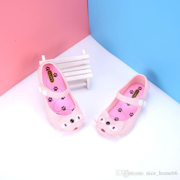 Mini Melissa Schuhe Sommer Mädchen Katze Sandalen Clogs Cute Baby Schuhe Crystal Fashion Sandalen Kinder Baotou Schnallen Kids Beach Schuhe