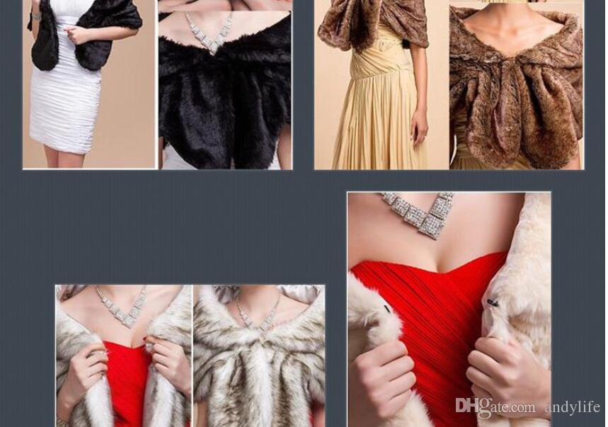 Fashion Elegant Bridal Wedding Faux Fur Long pashmina Stole Wrap Shrug Scarf winter women neckerchief Fake fur shawl muffler