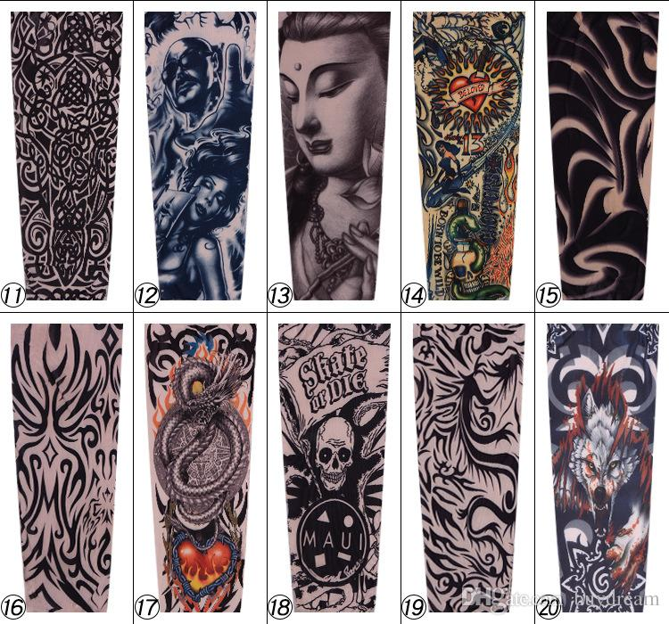 Tattoo Cooling UV Arm Sleeves Sun Protective Cover Half Hand Golf ...