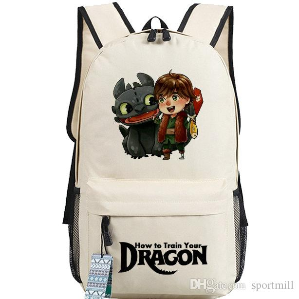 7a953b8a7dd 2019 Ivory How To Train Your Dragon Backpack Viking Boy School Bag 2015  Daypack Magic Schoolbag Outdoor Rucksack Sport Day Pack From Sportmill, ...