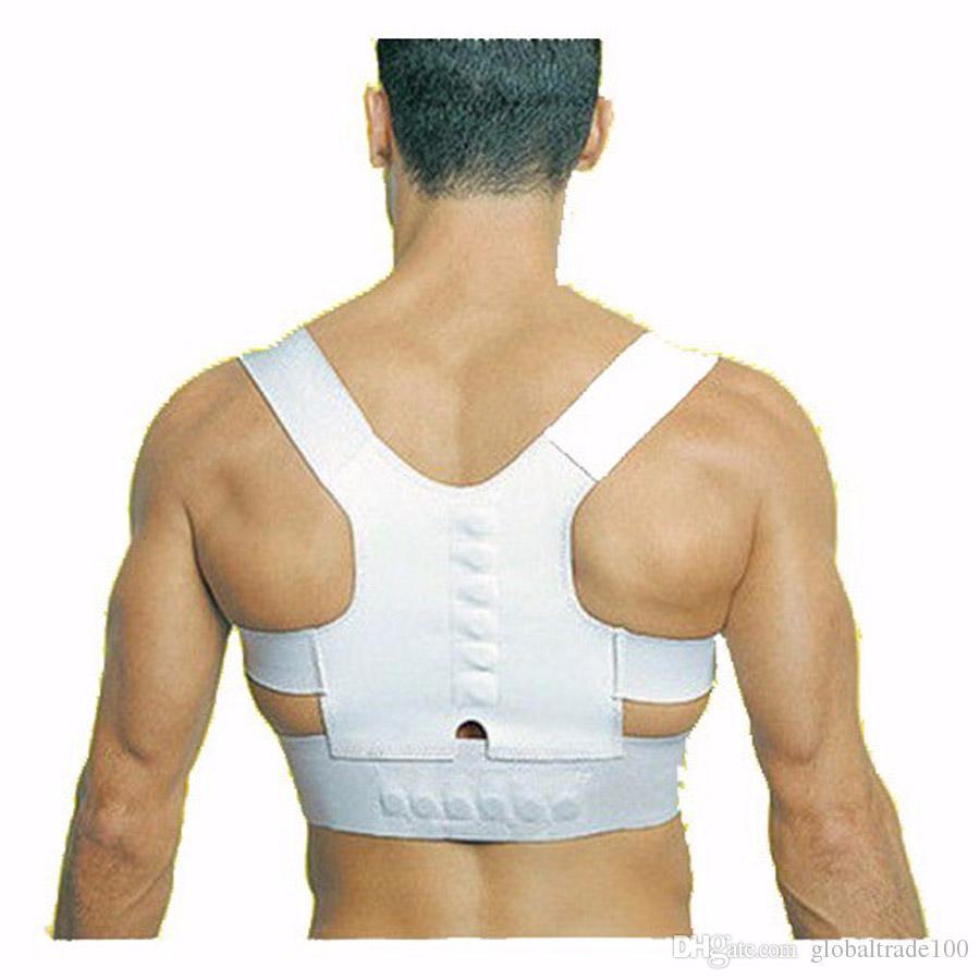 Ortesis médica Corsé Espalda Brace Potencia Magnética Postura Deporte Corrección Hombro Brace Postura magnética Parte posterior superior Soporte Corrector
