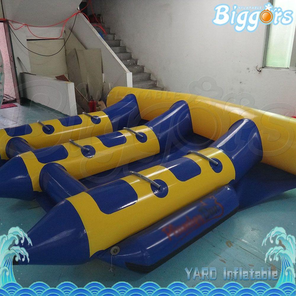 EN14960 Certificated 6 Pessoas Assento Moda Estilo gonflable Flyfish barco inflável rebocável tubo Jogo Água Flyfish Banana Boat Venda