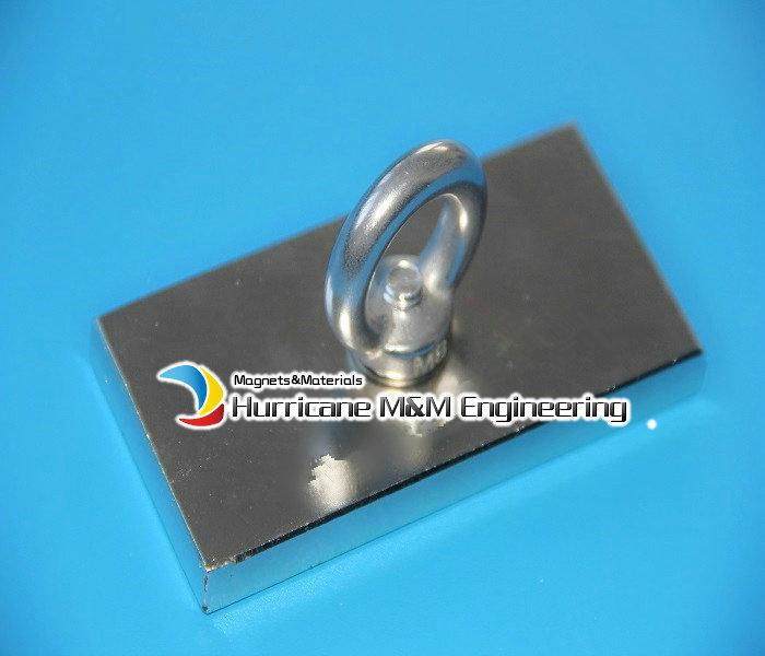 NdFeB Fix Magnet 100x50x10mm with M8 Screw Countersunk Hole Block N42 Neodymium Rare Earth Permanent Magnet