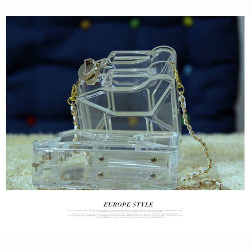 Famous Brand Evening Bags Perfume Handbag Acrylic Gasoline Kettle Clutch Purse Bottle Bag Premium CC Messenger Strap Chain Shoulder Bag