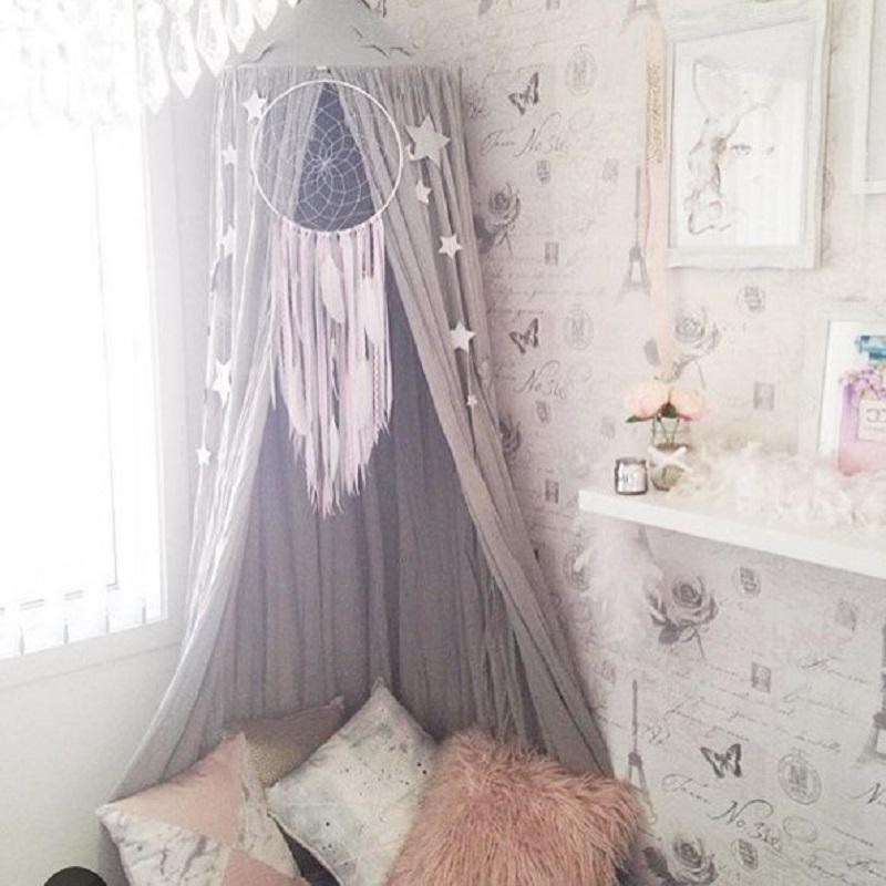 lovely hanging dome play tent bed curtain tent mosquito net baby hung teepees play house kids room decor nordic style princess playhouse tent tents for kids