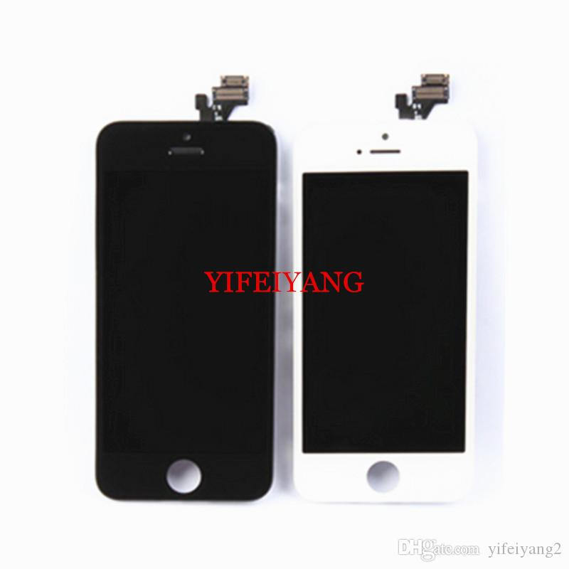 Best OEM LCD Display With Touch Screen Digitizer Assembly For iPhone 5 5C 5S 6 plus LCD Display by DHL EMS