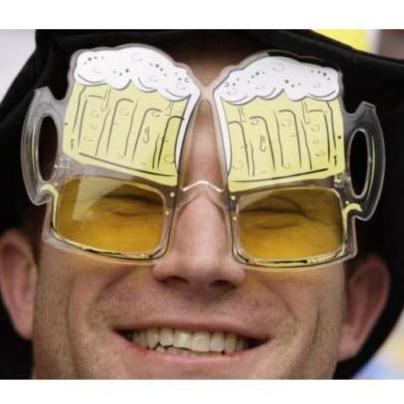 9241676ed62 Novelty Glasses Yellow Beer Gift Funny Sunglasses Night Hen Party ...